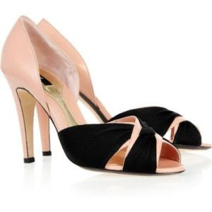 Bally | Besette Black/Blush leather pumps Italy 38